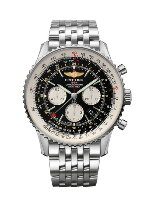 Breitling Navitimer 1 B04 Chronograph Gmt 44Mm Stainless Steel Head Only (Ab044121/bd24) - Watches Boston