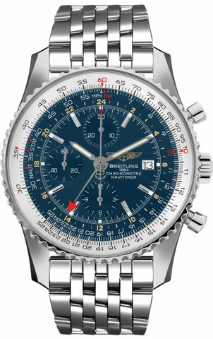 Breitling Navitimer 1 World Gmt 46Mm Chronograph Stainless Steel ( A2432212/c561/453A) - Watches Boston