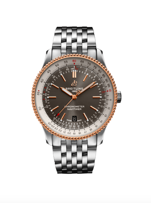 Breitling Navitimer 41mm Automatic Steel and Red Gold/Bracelet (Ref U17326211M1A1) - Boston