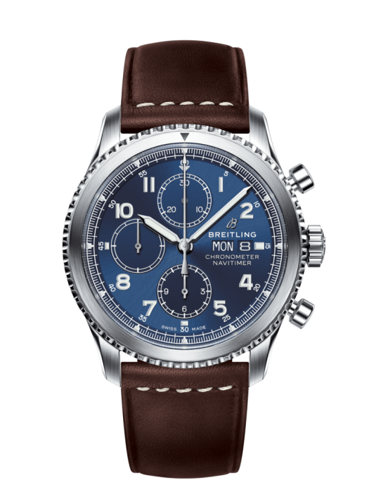 Breitling Navitimer 8 Chronograph 43Mm Stainless Steel/leather Strap (A13314101C1X2) - Watches Boston