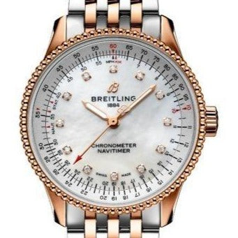 Breitling Navitimer Automatic 35mm Stainless Steel/Rose Gold (U17395211A1U1) - Boston