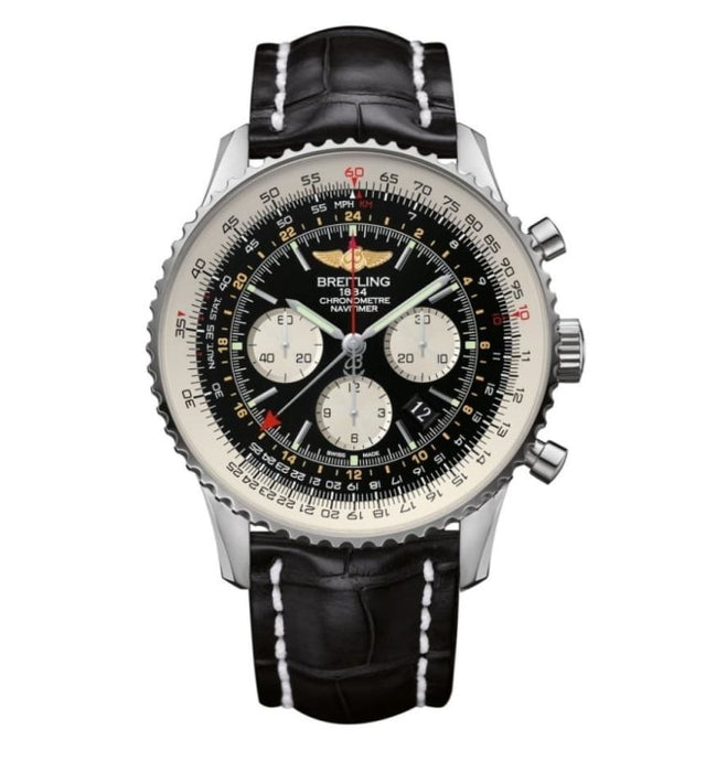 Breitling Navitimer Gmt 48Mm Stainless Steel (Ab044121/bd24) - Watches Boston