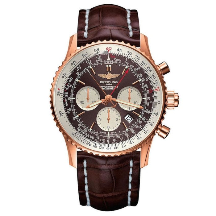 Breitling Navitimer Rattrapante 45Mm Rose Gold (Rb031121/q619) - Watches Boston