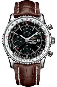 Breitling Navitimer World 46Mm Chronograph Stainless Steel/leather Strap (A2432212/b726/757P/a20D.1) - Watches Boston