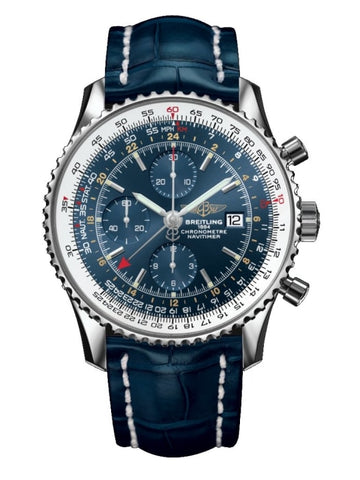 Breitling Navitimer World 46Mm Stainless Steel (A2432212/c651) - Watches Boston