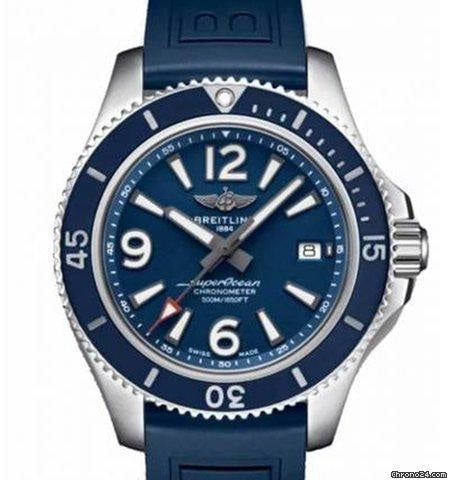 Breitling Superocean Automatic 42 Stainless Steel/Blue (A17366D81C1S2) - WATCHES Boston