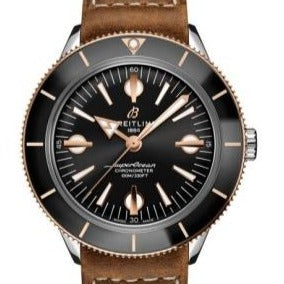 Breitling Superocean Heritage '57 Stainless Steel & 18 Karat Red Gold 42mm Black Dial (U10370121B1X1) - Boston