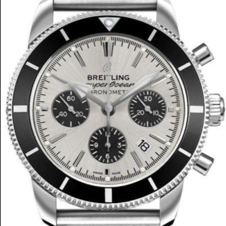 Breitling Superocean Heritage B01 Chronograph Stainless Steel 44 Silver (AB0162121G1A1) - Boston
