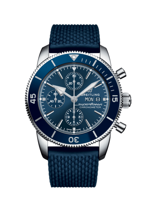 Breitling Superocean Heritiage Ii Chronograph 44Mm Stainless Steel/rubber Strap (A13313161C1S1) - Watches Boston