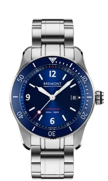 Bremont Supermarine Type 300 40Mm Stainless Steel (S300/bl/br) - Watches Boston