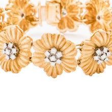 Load image into Gallery viewer, Buccellati Floral Bracelet w/Diamonds (18K Yellow Gold) - Jewelry Designers Boston