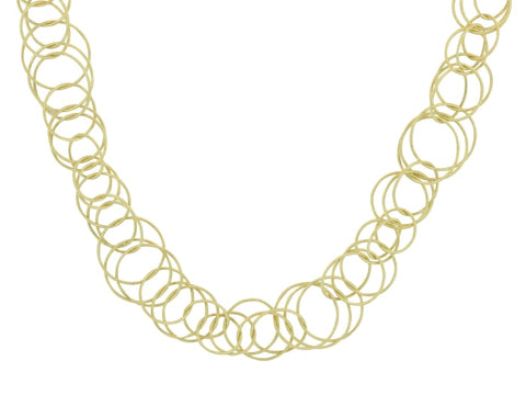 Buccellati Gold Hawaii Chain Link Necklace - Jewelry Boston