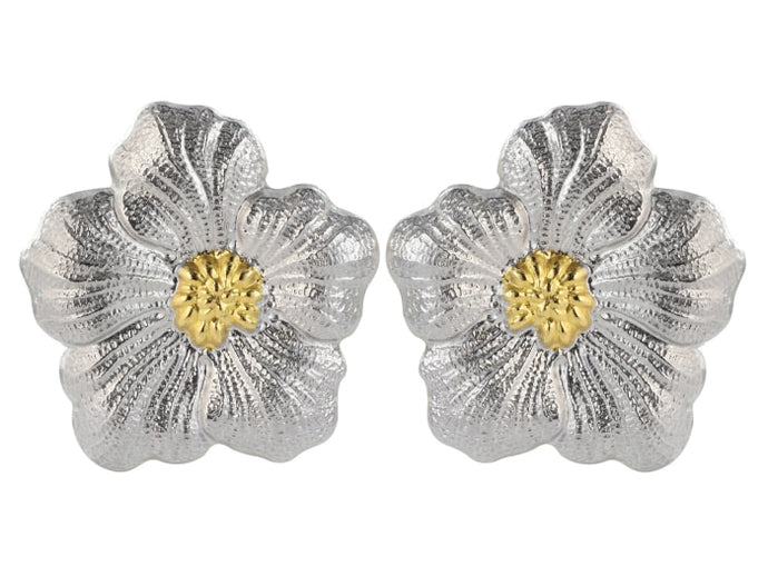 Buccellati Medium Gardenia Earrings From The Blossom Collection - Jewelry Boston