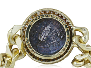 BVLGARI Coin Bracelet (Yellow Gold) - Jewelry Designers Boston