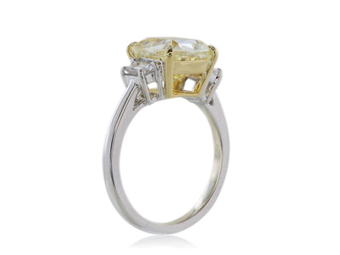 Canary Diamond 4.12 Fy Vs2 Engagement Ring - Jewelry Boston