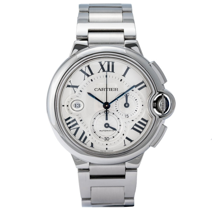 Cartier Ballon Bleu Chronograph Stainless Steel 44mm (W6920002) - Boston