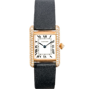 Cartier Ladies Tank Louis Rose Gold and Diamonds 23mm x 29mm - Boston
