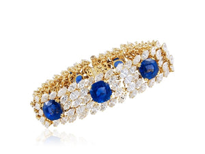 Cartier Paris Sapphire And Marquise Diamond Bracelet - Jewelry Boston