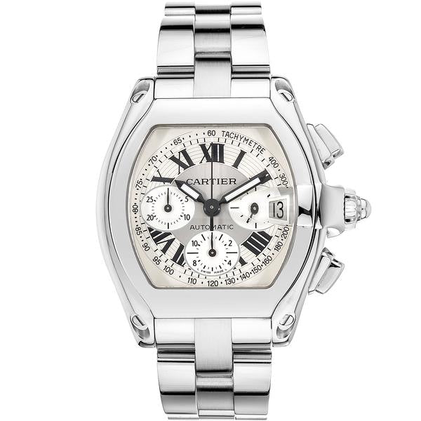 Cartier Roadster Chronograph Stainless Steel 43Mm (W62006X6) - Watches Boston