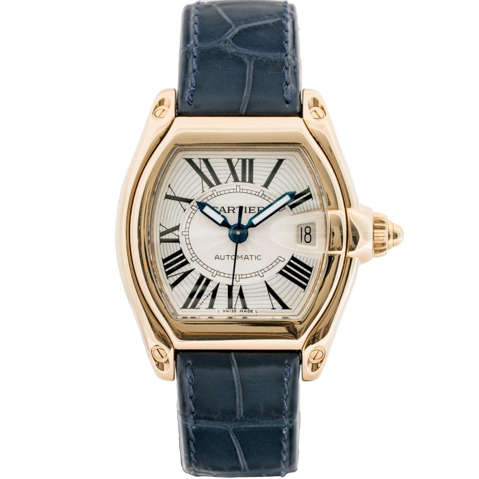 Cartier Roadster Yellow Gold Silver Dial Automatic 36mm (W62005V2) - Boston