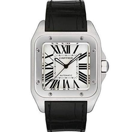 Cartier Santos 100 Stainless Steel 38Mm (W20073X8) - Watches Boston