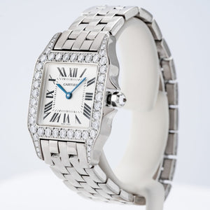 Cartier Santos Demoiselle Diamond Bezel White Gold 26mm x 26mm (WF9004Y8) - Boston