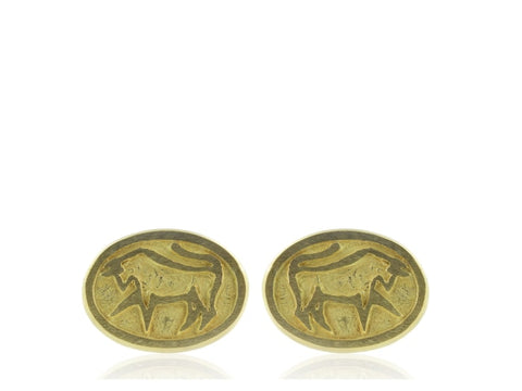 Cartier Yellow Gold Taurus Cufflinks - Jewelry Boston