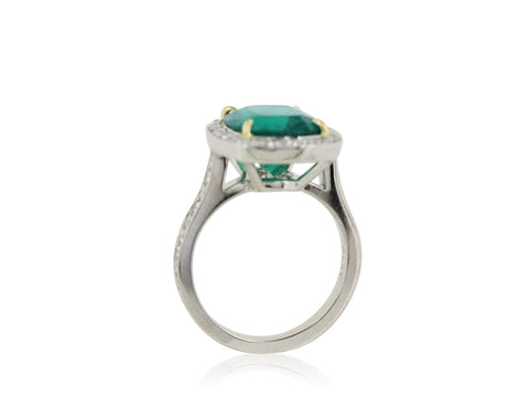Certified 4.27 Carat Colombian Emerald Ring - Jewelry Boston