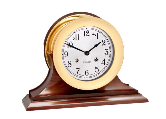 Chelsea 6 Shipstrike Clock W/ Traditional Base - Gifts Boston