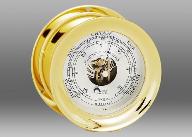 Chelsea Brass Finish Barometer - GIFTS Boston