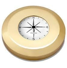 Chelsea Chart Weight Compass In Brass - Gifts Boston