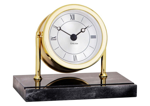 Chelsea Clock Chatham 3 Clock W/ Marble Base - Gifts Boston