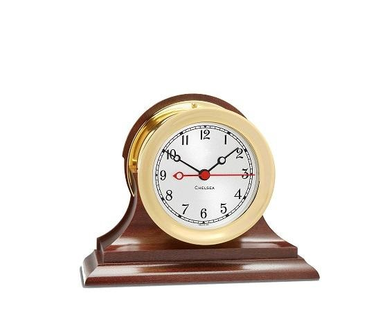 Chelsea Clock Shipstrike Quartz 4.5 Clock W/ Base - Gifts Boston