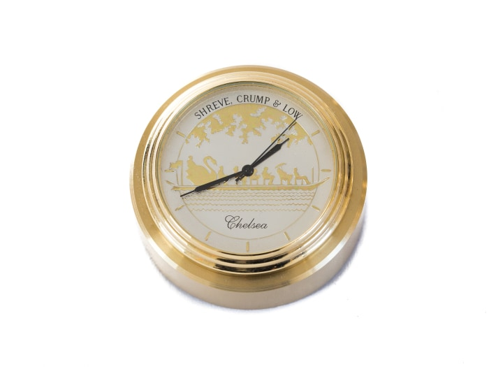 Chelsea Swanboat Waterfall Paperweight Clock - Gifts Boston
