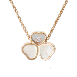Chopard Happy Hearts RG Mother of Pearl Necklace - Boston