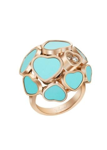 Chopard 0.05 Carat Happy Hearts Turquoise Ring (Rose Gold) - Jewelry Designers Boston