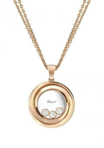 Chopard~ 0.15Ctw Happy Emotion Pendant - Jewelry Boston