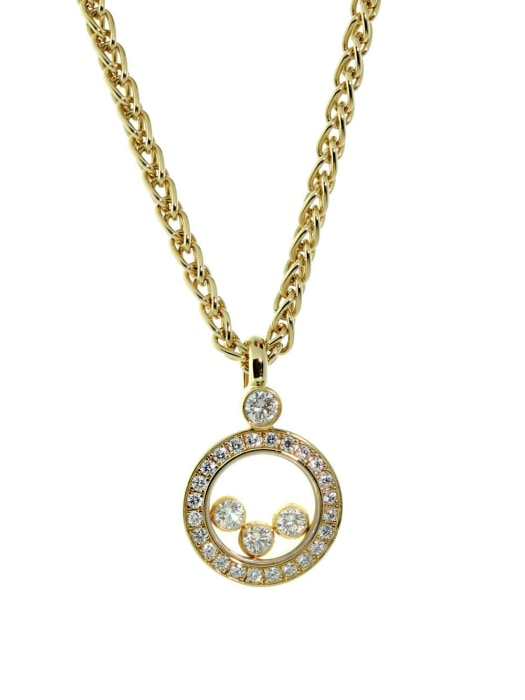 Chopard~ 0.36Ctw Happy Diamonds Icon Pendant - Jewelry Boston