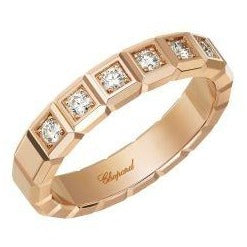 Chopard 18 Karat Rose Gold Ice Cube Ring w/.38CTW - Boston