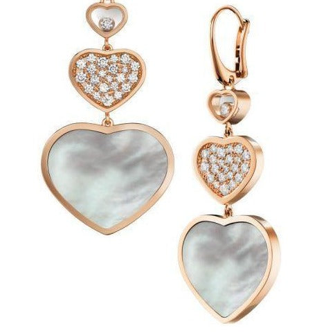 Chopard Happy Hearts RG Drop Earrings w/MOP - Boston