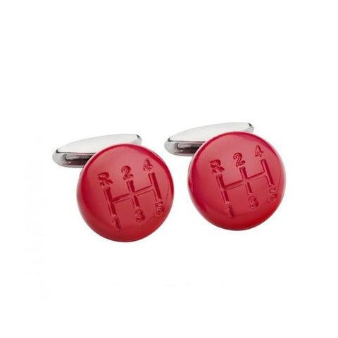 Chopard Red Shift Knob Cuff Links - Cufflinks Boston