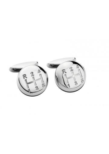 Chopard Stainless Steel Shift Knob Cuff Links - Boston