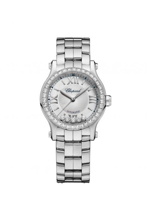 Chopard~Happy Sport 30mm Stainless Steel w/Diamond Bezel (278573-3004) - WATCHES Boston