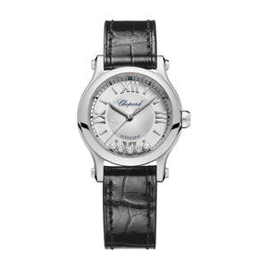 Chopard~Happy Sport 30mm Stainless Steel/Strap (278573-3001) - WATCHES Boston