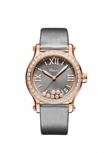 Load image into Gallery viewer, Chopard~Happy Sport Rose Gold/Strap & Diamond Bezel (274808-5014) - WATCHES Boston