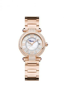 Chopard~Imperial Rose Gold 29Mm W/ Diamond Bezel (384319-5004) - Watches Boston