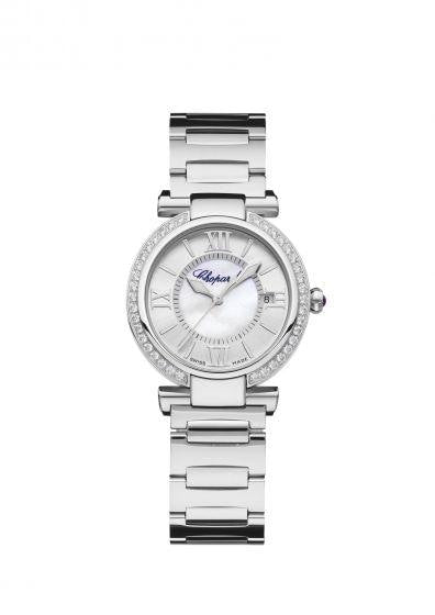 Chopard~Imperial Stainless Steel 29Mm W/ Diamond Bezel (388563-3004) - Watches Boston