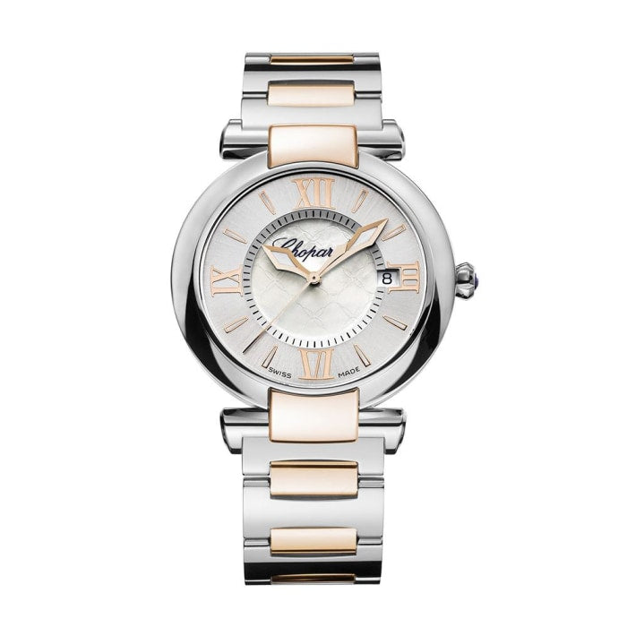 Chopard~Imperial Stainless Steel/rose Gold 36Mm (388532-6004) - Watches Boston