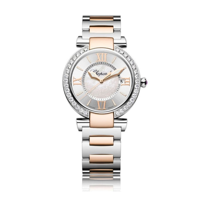 Chopard~Imperial Stainless Steel/rose Gold 36Mm W/ Diamond Bezel (388532-6004) - Watches Boston