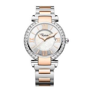Chopard~Imperial Stainless Steel/rose Gold 40Mm W/ Diamond Bezel (388531-6004) - Watches Boston
